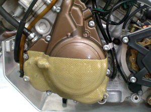 Aprilia SXV Carbon Engine Cover 2