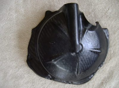 ZX6R 07-18 Clutch Carbon Engine Protection Cover